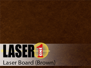 "Brown Laserboard -  .035""  25 Pieces 12"" x 24"" Sheets"